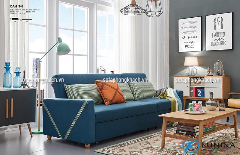 Sofa văng thiết kế 2 trong 1, có thể kéo dài ra thành chiếc giường nhỏ xinh tiết kiệm diện tích