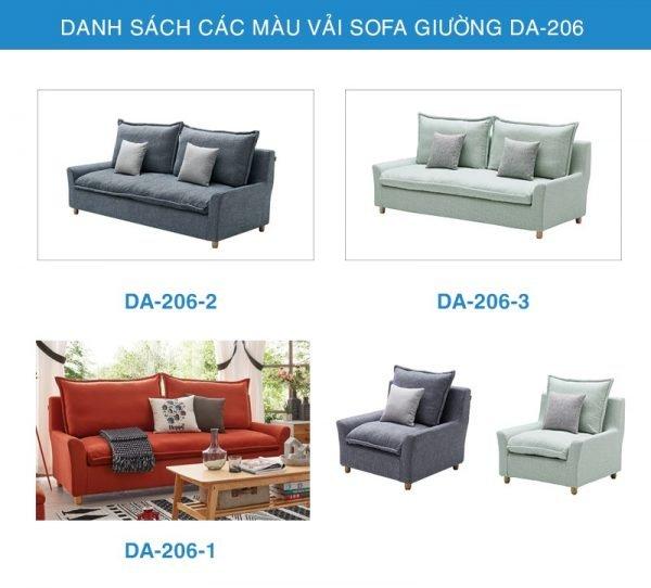 bảng màu vải Sofa giường thông minh DA-206