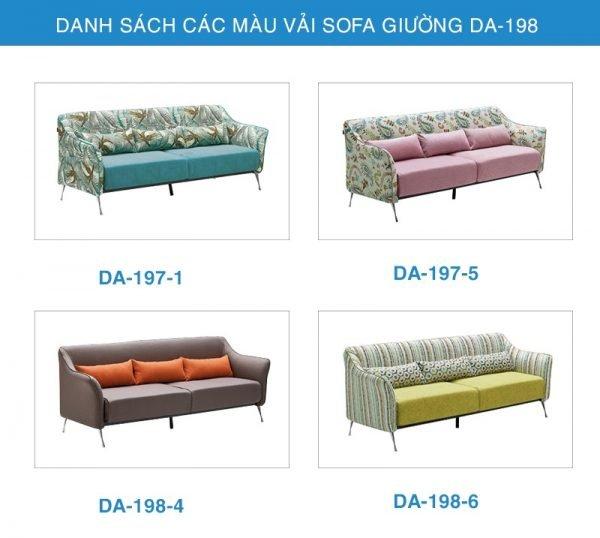 bảng màu vải Sofa giường thông minh DA-197