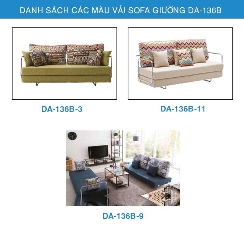bảng màu vải sofa giường DA-136B