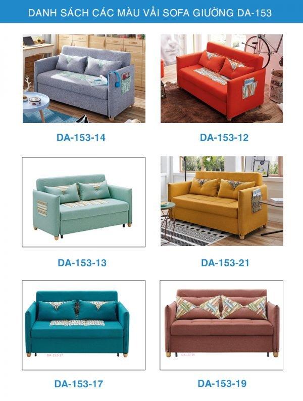 bảng màu vải sofa giường DA-153
