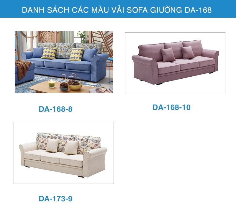 bảng màu Sofa giường nhập khẩu DA-168