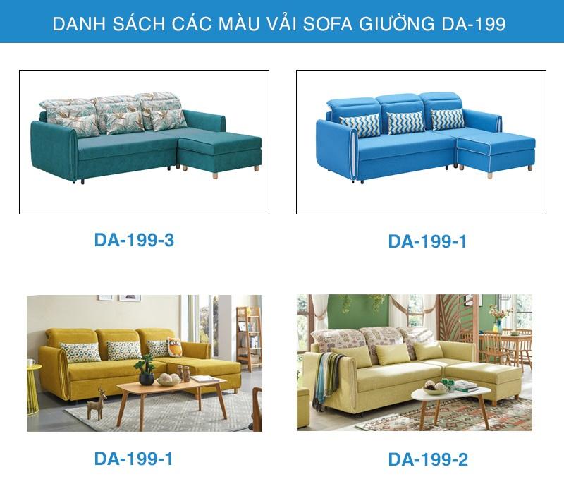bảng màu vải sofa giường thông minh DA-199