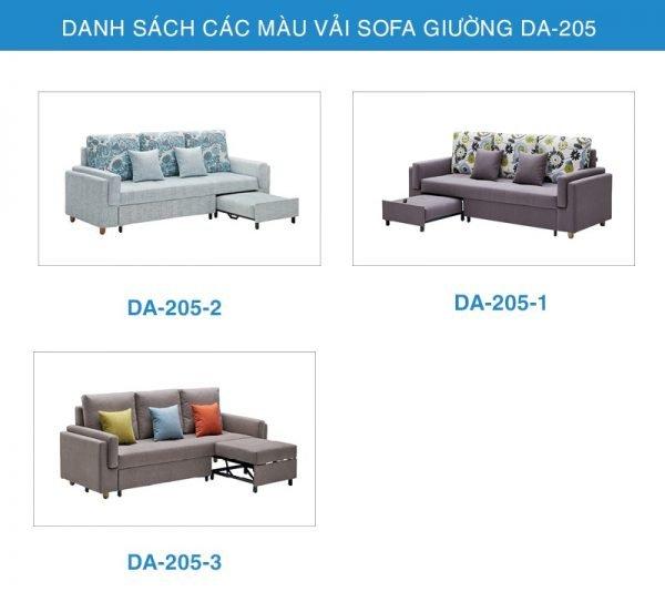 bảng màu sofa giường đa năng DA-205
