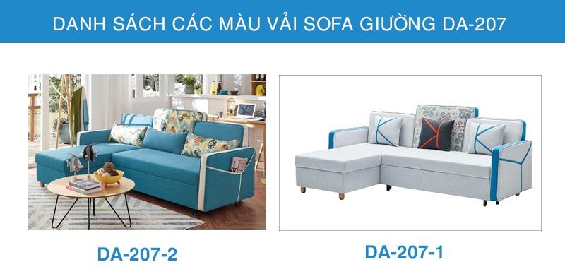 bảng màu vải sofa giường DA-207