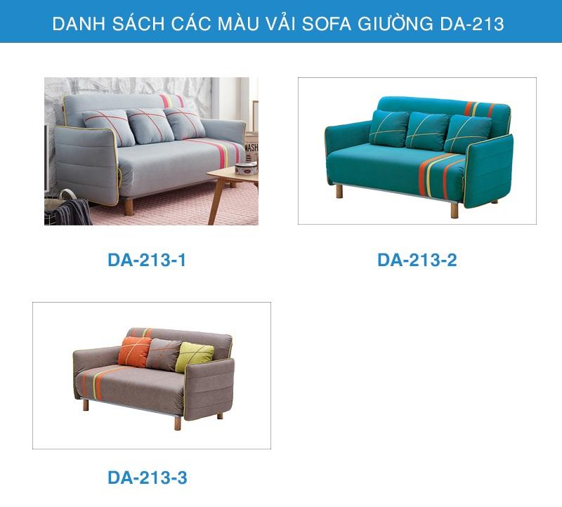 bảng màu ghế sofa giường DA-213