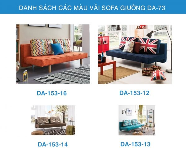 bảng màu vải sofa giường DA-73