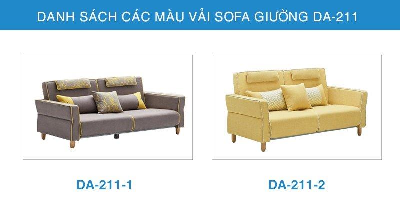 bảng màu vải Sofa giường đa năng DA-211