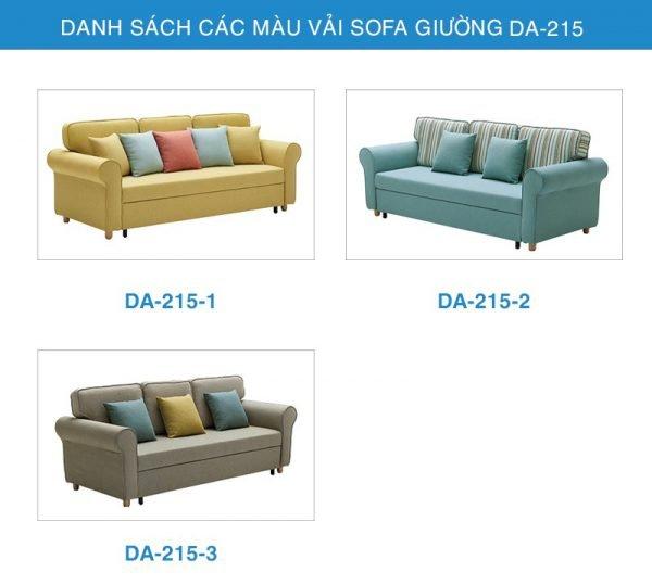 bảng màu vải Sofa giường đa năng DA-215