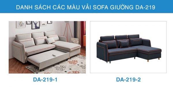 bảng màu vải sofa giường đa năng DA-219