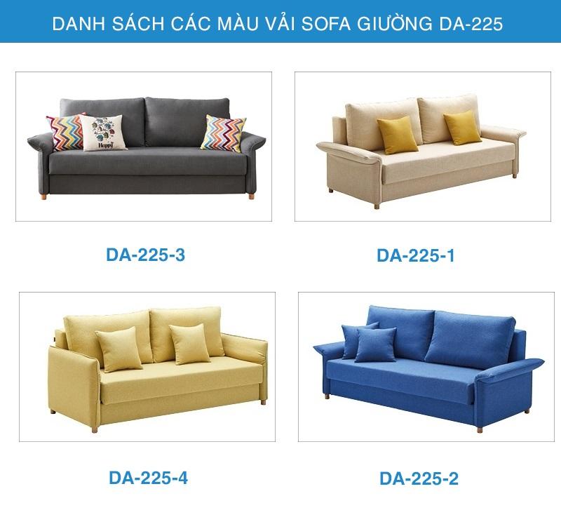 bảng màu vải sofa giường đẹp DA-225