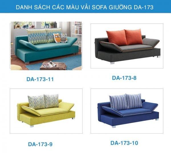 bảng màu vải Sofa giường thông minh DA-173