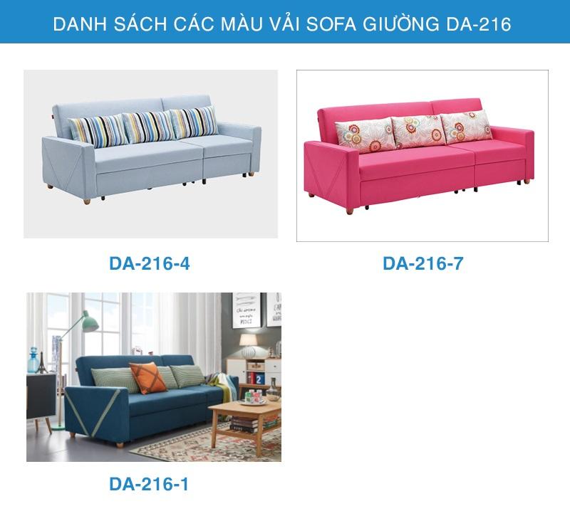 bảng màu vải sofa giường thông minh DA-216