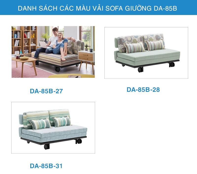 bảng màu sofa giường đẹp DA-85B