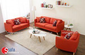 Ghế sofa nhập khẩu cao cấp màu đỏ ấn tượng