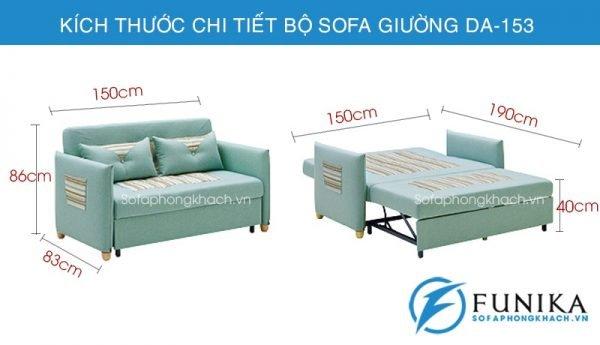 kích thươc chi tiết sofa giường thông minh DA-153
