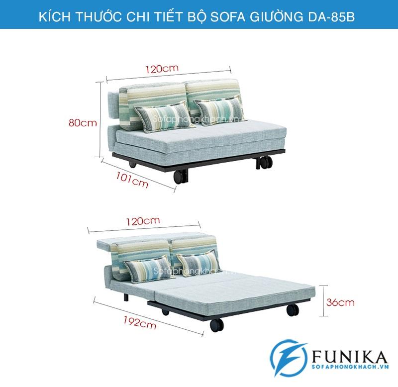 kích thước Sofa giường đẹp DA-85B