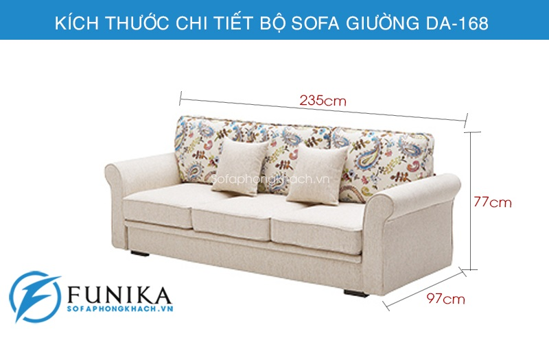 kích thước Sofa giường nhập khẩu DA-168