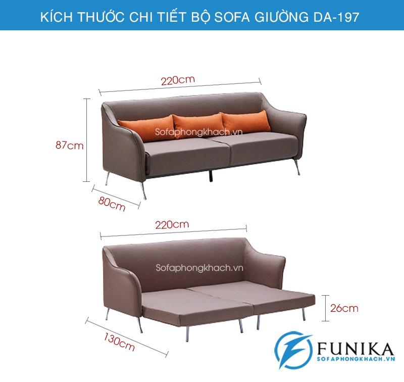 kích thước Sofa giường thông minh DA-197
