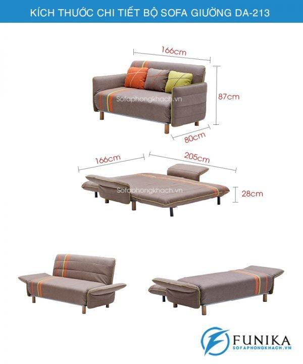 kích thước ghế sofa giường DA-213