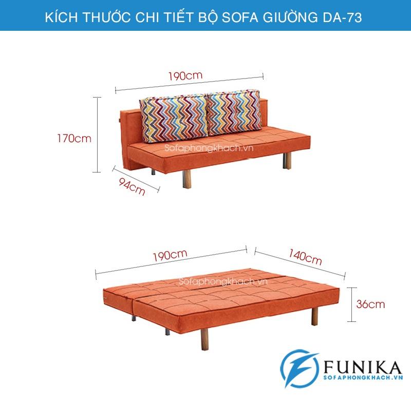 kích thước sofa giường DA-73