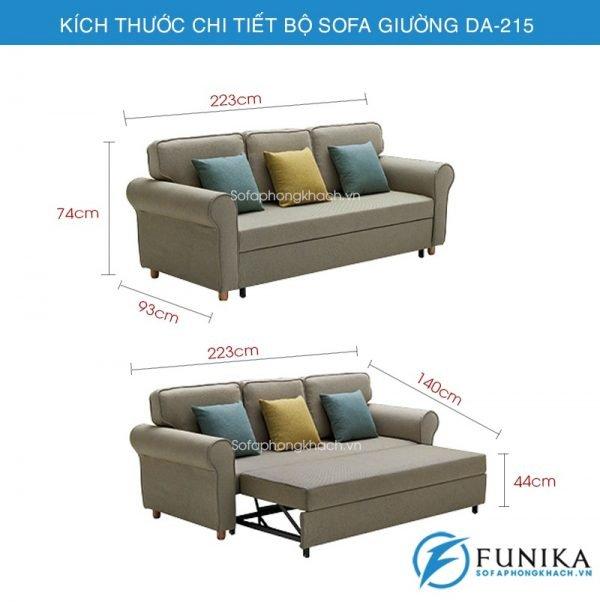 kích thước Sofa giường đa năng DA-215