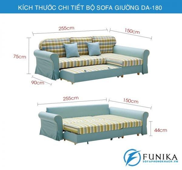 kích thước Sofa giường DA-180
