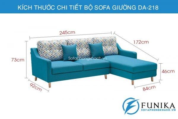 kích thước sofa giường nhập khẩu DA-218