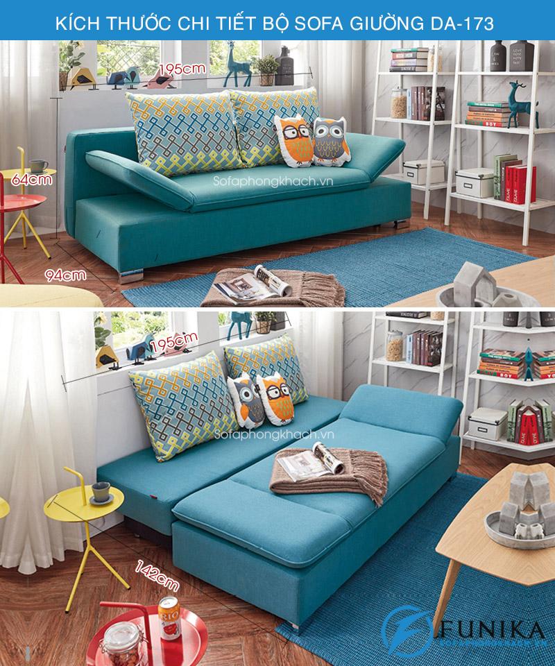 kích thước Sofa giường thông minh DA-173