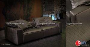Nên chọn bộ ghế sofa da cao cấp có kích thước vừa văn cới căn phòng khách của gia đình