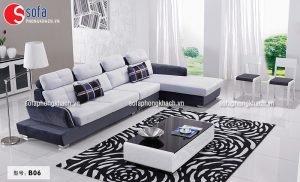 Sofa vải màu sắc trung tính lịch lãm, sang trọng