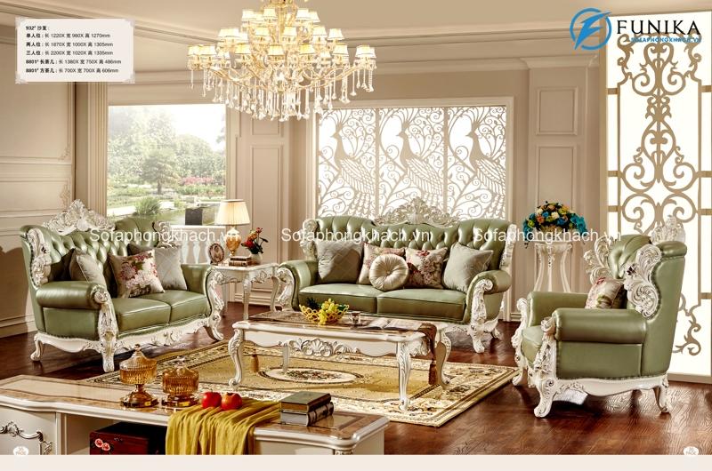 Không gian phòng khách trở nên đẳng cấp và quý phái khi sở hữu ghế sofa cổ điển châu Âu