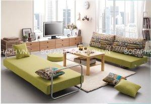 Cùng chiêm ngưỡng thêm những mẫu ghế sofa giường đa năng màu xanh xinh xắn này nhé