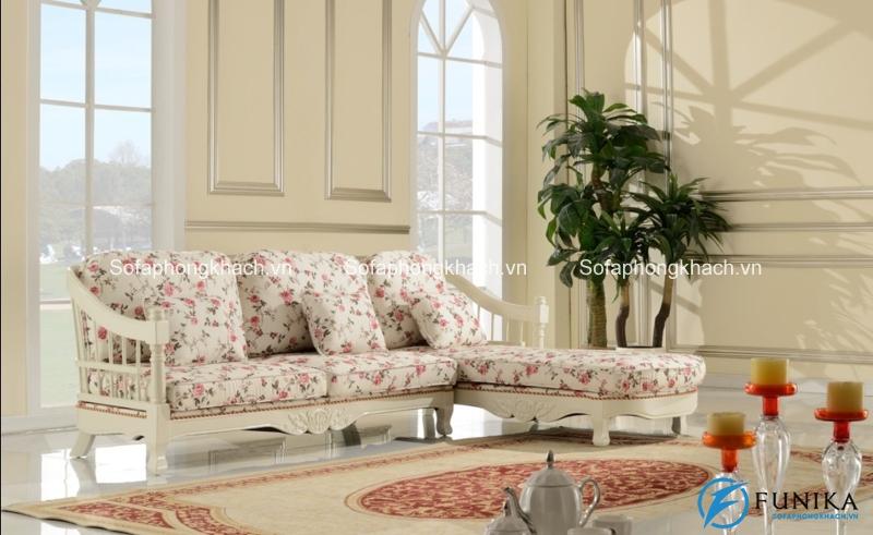 Nhẹ nhàng và thanh thoát, đó chính là những từ để miêu tả dòng sofa cổ điển họa tiết hoa này