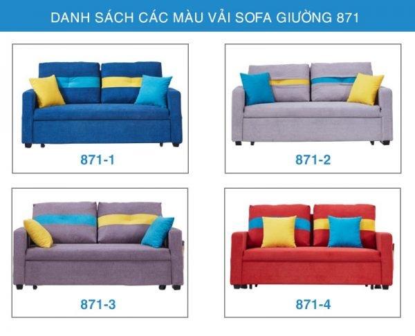 bảng màu vải sofa giường 871