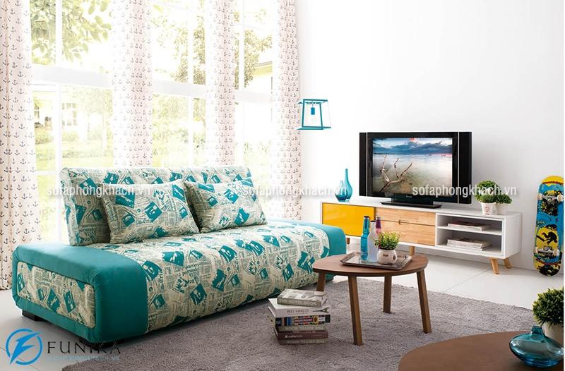 Bộ sofa giường thông minh có kiểu dáng văng nhỏ gọn, không có tay vịn