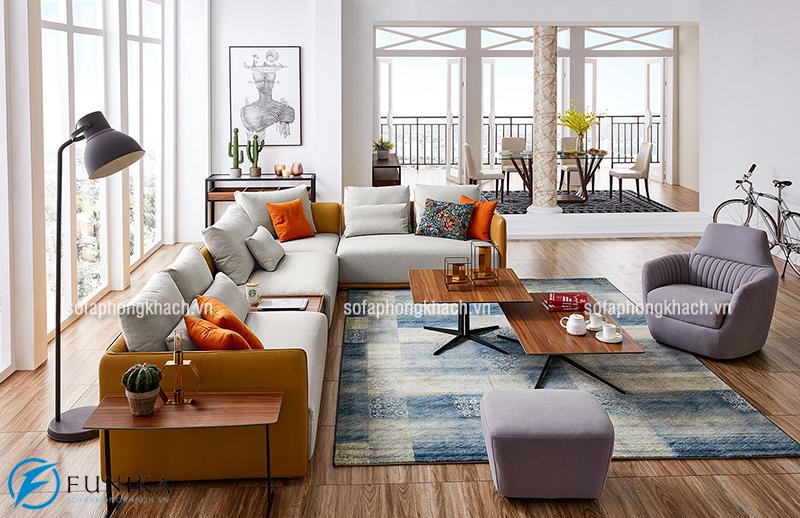 Bố trí bộ ghế sofa phòng khách và bàn trà sofa