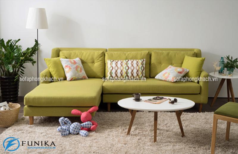 Ghế sofa đẹp dạng góc thiết kế không tay vịn dành cho phòng khách nhỏ
