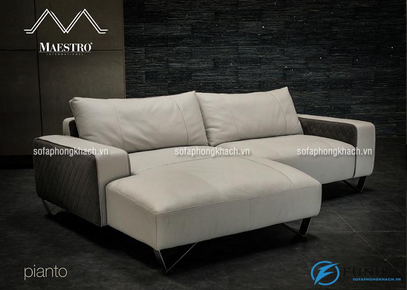 Ghế sofa hà nội bằng chất liệu da bò thật 100% mang đến không gian phòng khách sang trọng