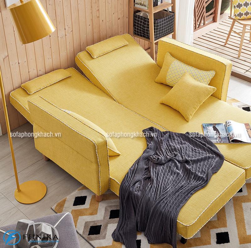 Ghế sofa hiện đại khi được kéo dài ra thành dạng giường nằm tiện nghi