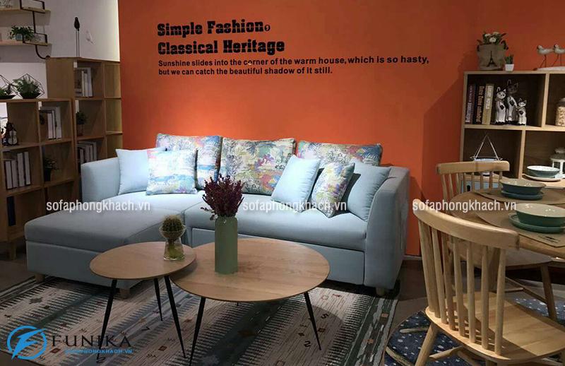Ghế sofa hiện đại thiết kế dạng gường thông minh khi ở dạng sofa tiếp khách thông thường