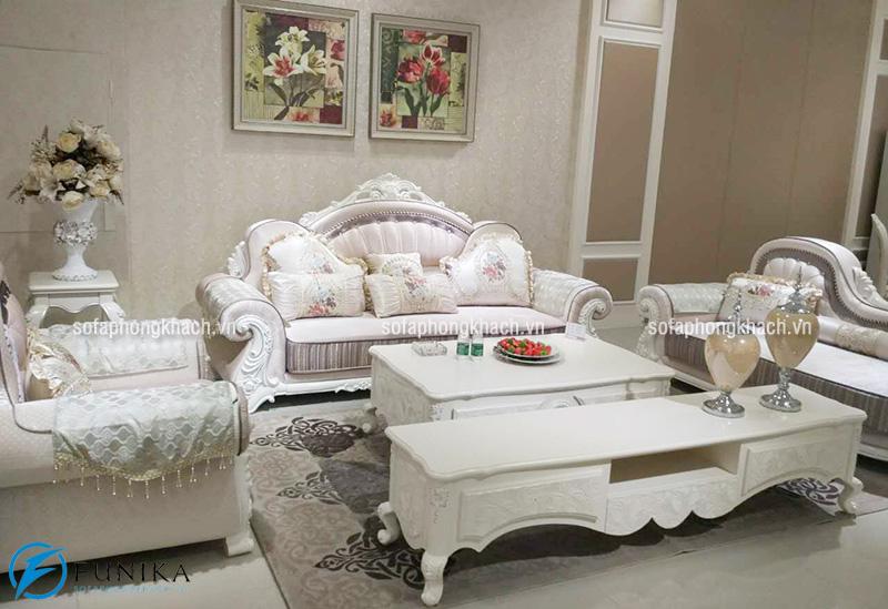 Mẫu ghế sofa khung gỗ sồi tự nhiên kiểu dáng cổ điển sang trọng