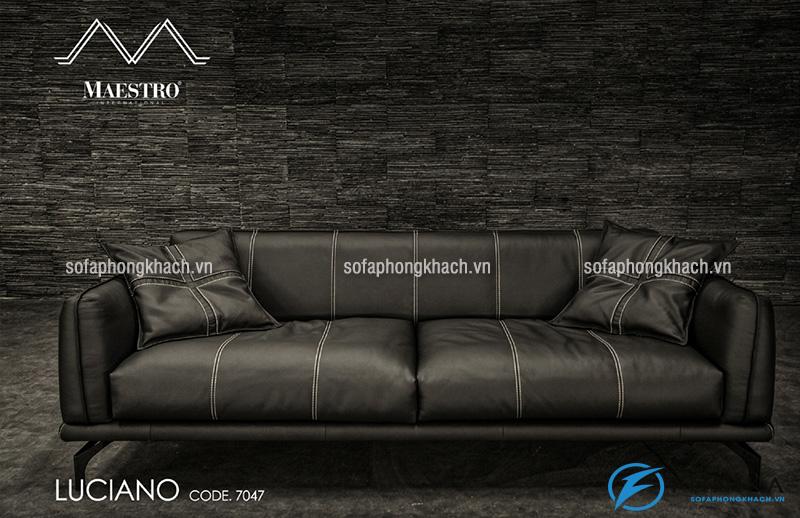 Ghế sofa văng bằng da thật cao cấp