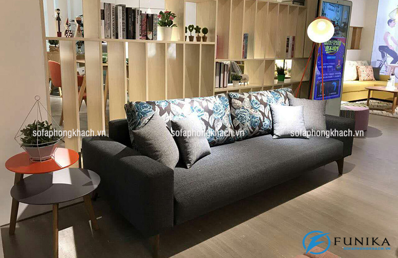 Ghế sofa văng bằng nỉ cao cấp mang lại cảm giác mềm mại cho người sử dụng
