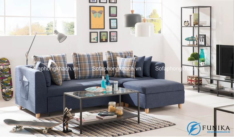 Những chiếc sopha giường và bàn trà đơn giản nhưng hiệu quả cao trong thẩm mỹ