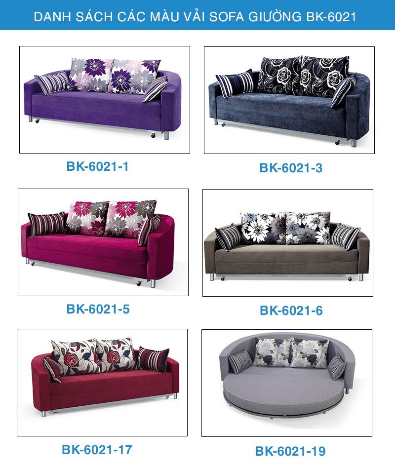 bảng màu sofa giường BK-6021