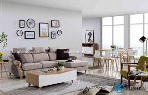 Không gian để ánh nắng chiếu trực tiếp vào bộ ghế sofa