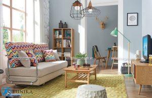 Bộ ghế sofa cao cấp thiết kế nhỏ gọn có thể kéo dài ra thành chiếc giường đa năng