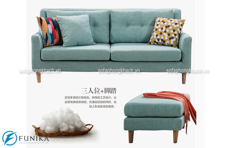 Mẫu sofa mini thiết kế dạng văng với màu xanh tươi mới
