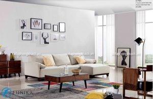 Ghế sofa mini màu trắng giúp không gian trở nên thông thoáng